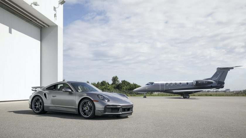 """1-of-10 Porsche x Embraer 911 Turbo S/Business Jet """"Duet"""" Package"""